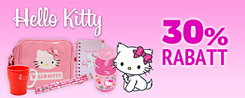 Hello Kitty 30% rabatt!