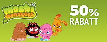 Moshi Monsters 50% rabatt!