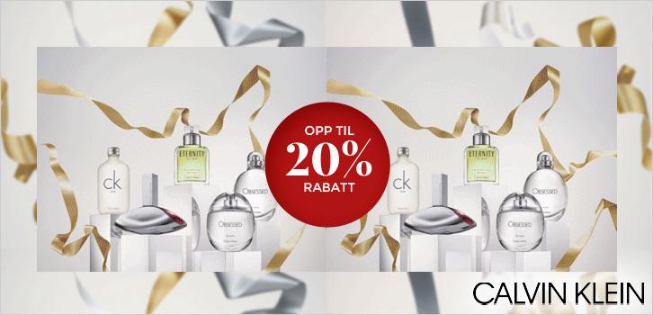 Calvin Klein - Opp til 20% rabatt!
