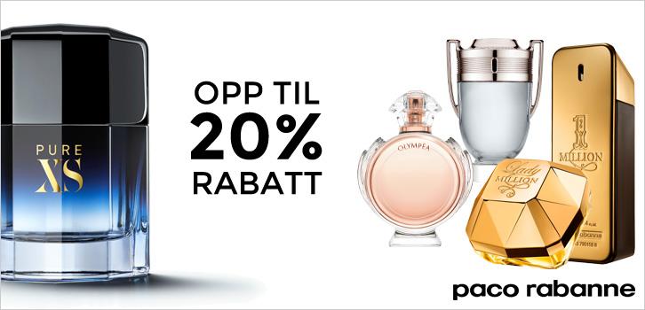 Paco Rabanne - opp til 20% rabatt!