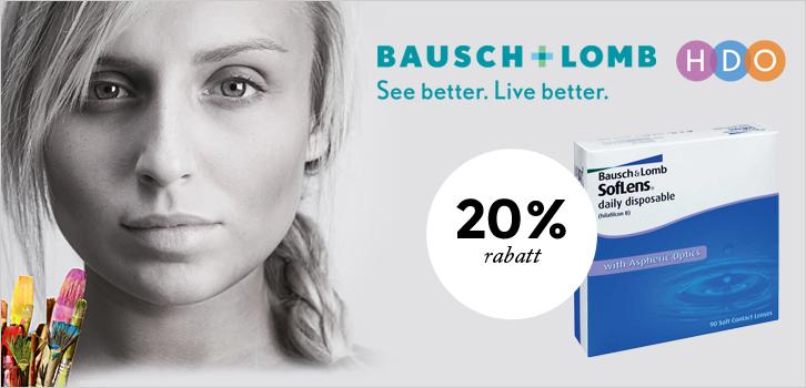 20 % rabatt på SofLens daily disposable