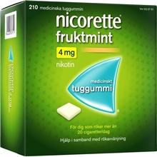 Nicorette Tuggummi fruktmint (Läkemedel) 210 st/paket
