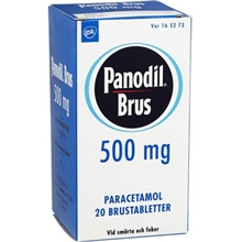 Panodil Brus 500mg (Läkemedel) 20 tabletter