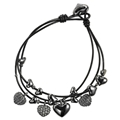 Leather Heart Bracelet