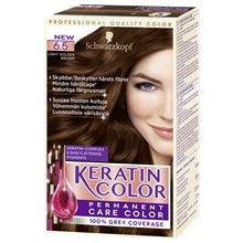 Schwarzkopf Keratin Color 1 set 6.5 Light Golden Brown