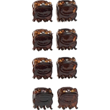 01048 Brown Mini Hair Claw Set 1 set