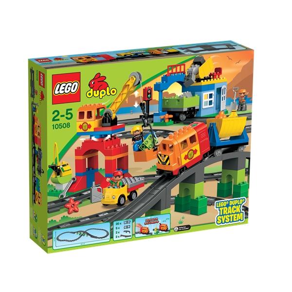 Lego Förvaring Huvud Stort ~ 10508 Ekstra Stort Togsett DUPLO Creative building LEGO Shopping4net