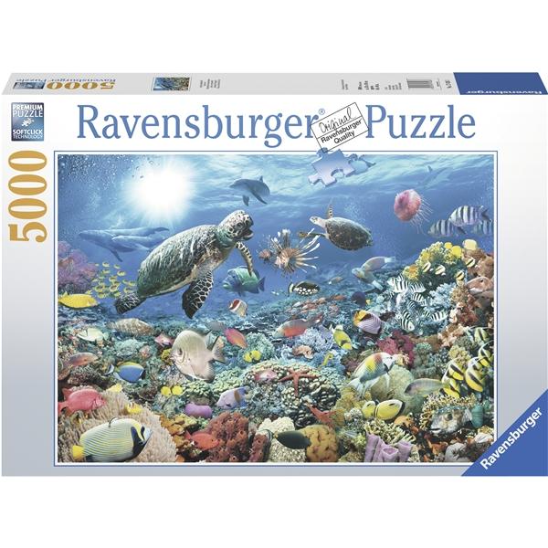 Puslespill 5000 biter under overflaten 5000 biter eller for Custom 5000 piece puzzle