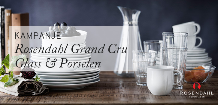 KAMPANJE - Rosendahl Grand Cru Glass og Porselen!