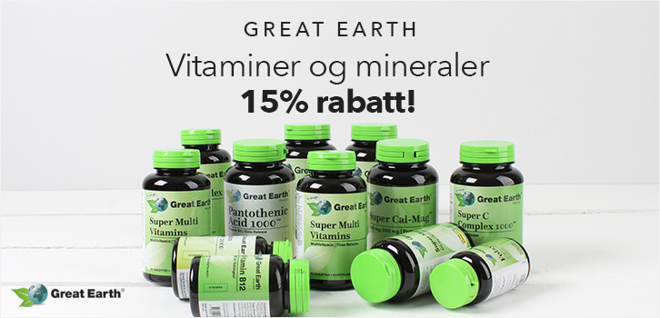 Great Earth -15% rabatt!