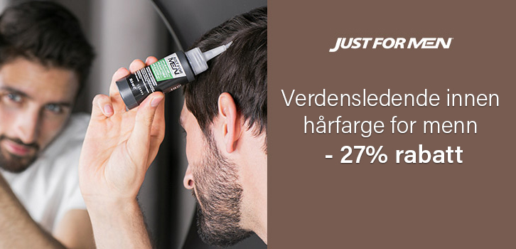 Just For Men - 20% rabatt