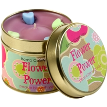 Tin Candle Flower Power