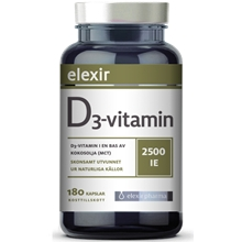 D3-vitamin 2500 IE 180 kapsler
