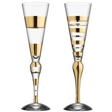 Clown Gold Champagneglass 2-pack