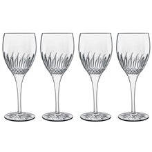 Diamante hvitvinsglass 4-pack