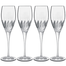 Diamante champagneglass 4-pack