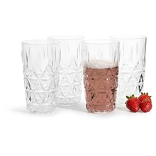 Picknick stort glass 4-pack