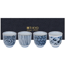 Blue/White Tea Cup Set 4-pack