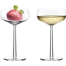 1 set - Transparent - Essence Dessertskål/Lavt champagneglass 2-pack
