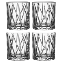 City Whiskyglass OF 4 stk/pakke