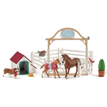 Schleich 42458 Hannah's Guest Horse with Dog
