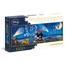 Puslespill 1000 Deler Panorama Mickey & Minnie