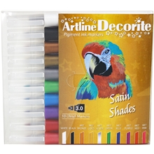 Artline Decorite Tusjpenner Skåren Spiss Satin