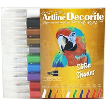 Artline Decorite Tusjpenner Pensel Satin