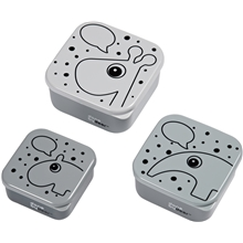 Done By Deer Snack Box Set 3 PCS Contour Grey