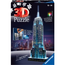 Puslespillbyggning 3D - Empire State Building LED