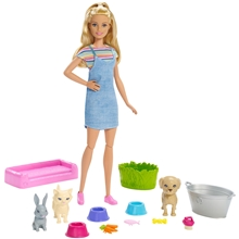 Barbie Play & Wash Husdyr Lekesett
