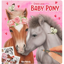 Miss Melody Tegnebok Create Your Baby Pony