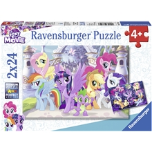 Puslespill 2 x 24 deler Wonderful Ponies