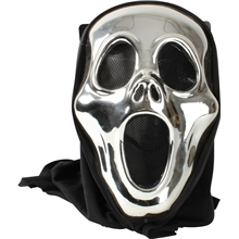 Halloween Metallic Maske - Scream
