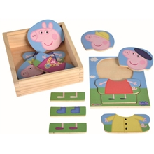 Puslespill Peppa Gris Dress Up