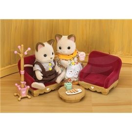 sylvanian living room set sylvanian families living room furniture set m 248 bler 13101